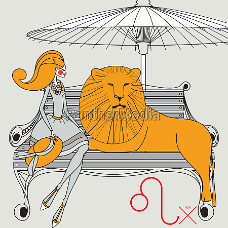 fashion model as leo zodiac sign