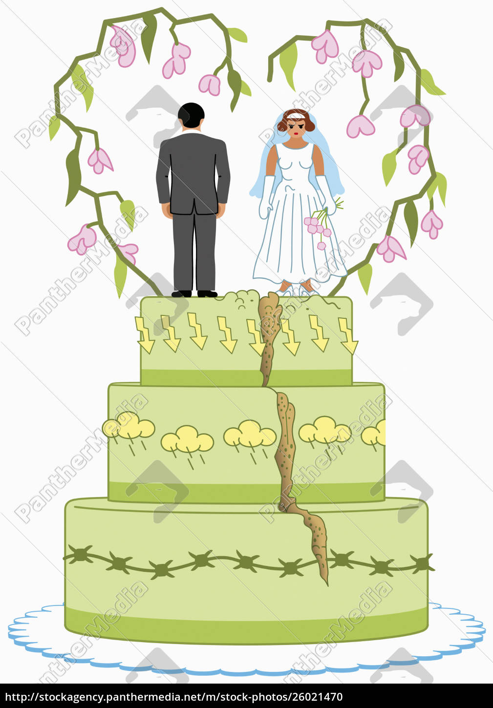 angry, bride, and, groom, on, top - 26021470