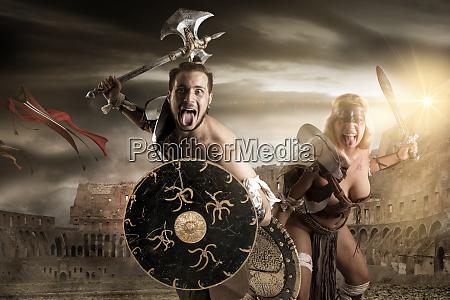gladiators couple