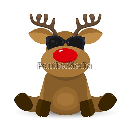 cute little deer with glasses