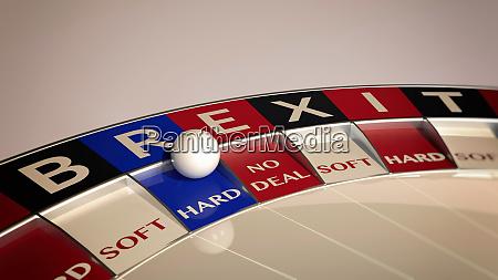 hard brexit roulette concept gambling
