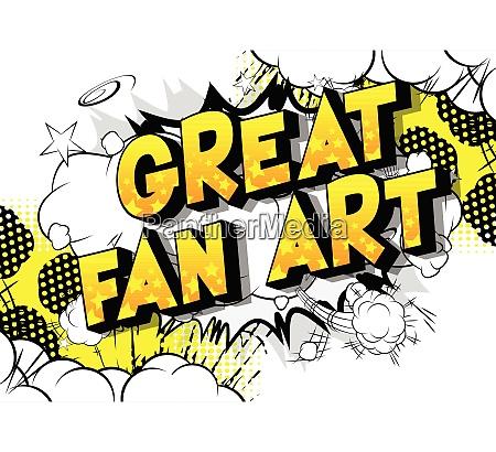 great fan art vector illustrated