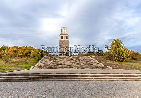 buchenwald memorial belfry and group of