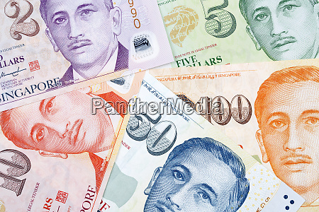 singapore dollars a background