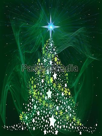 green star christmas tree