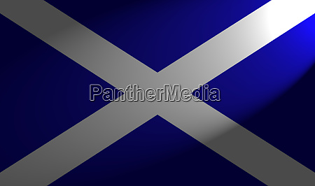 scottish flag with spotlight
