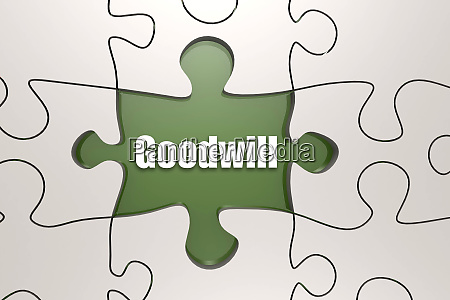goodwill word on jigsaw puzzle