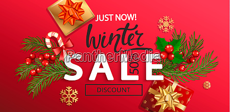 winter sale banner for new year