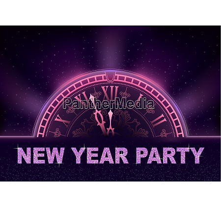 new year party background in purple