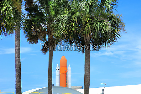 kennedy space center entrance with space