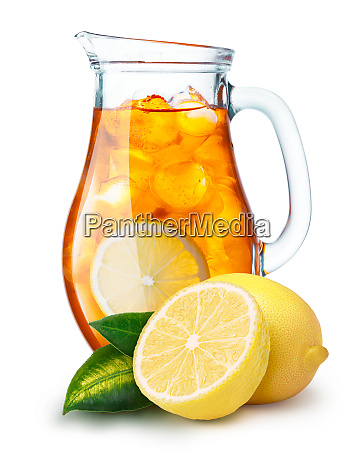 iced tea in a pitcher