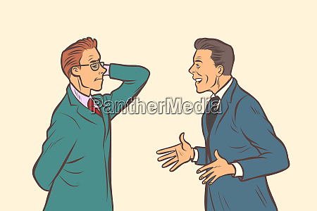 two businessmen brainstorming collaboration teamwork