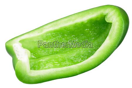 green bell pepper slice