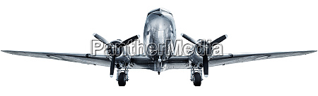 historical aircraft isolated against a white
