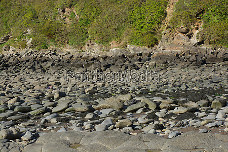large boulders and stones on beach
