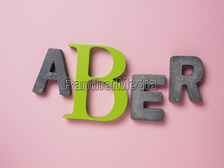 german word but on pink