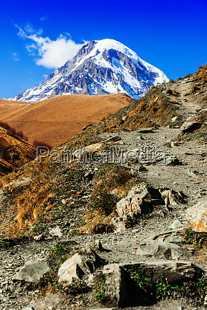 mount kazbek the third highest peak