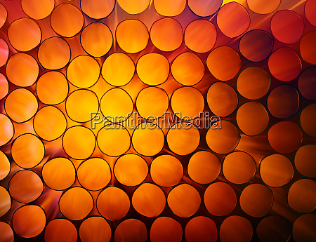 abstract orange colorful background of stack