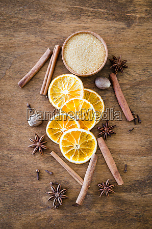 spices for christmas gingerbread or mulled