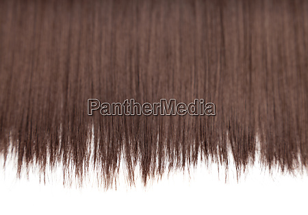 closeup on luxurious glossy brown hair