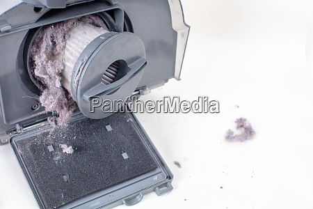 vacuum cleaner filter and dust