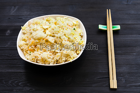 served portion of fried rice with