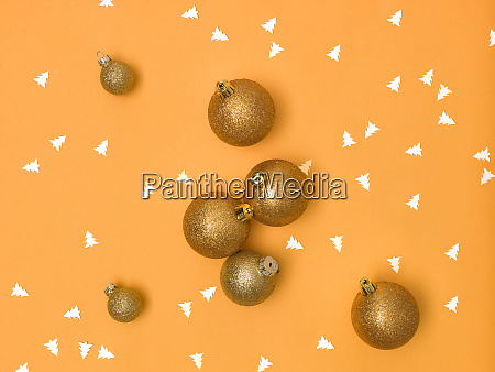 wonderful gold christmas baubles on gold
