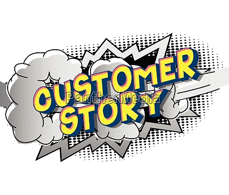customer story comic book style