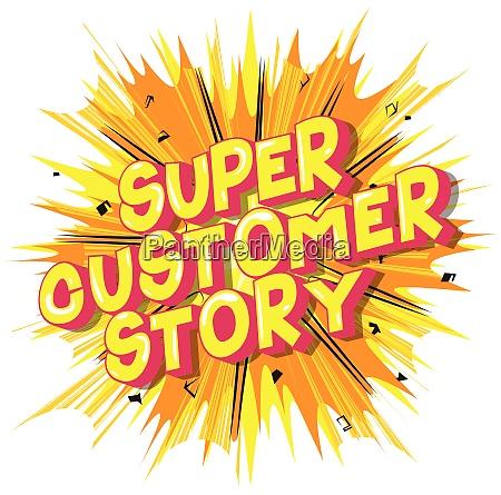 super customer story comic book