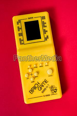 old legendary portable game console tetris
