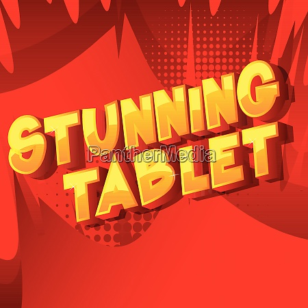 stunning tablet comic book style