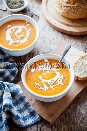 couple of bowls of homemade pumpkin