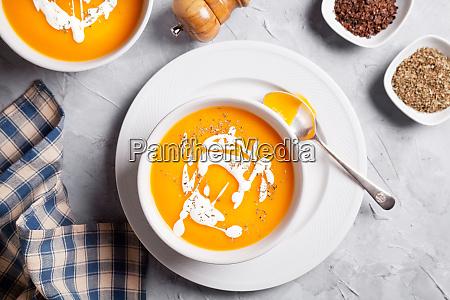 couple of bowls of organic pumpkin