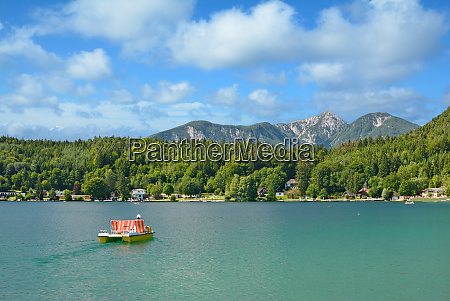 at lake klopeiner see in carinthia