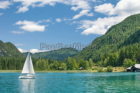 lake weissensee in carinthia austria