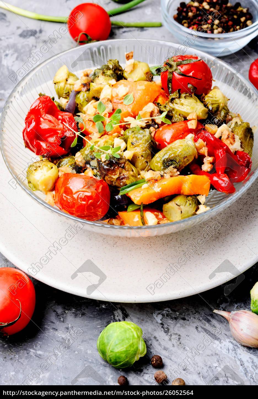 baked, vegetable, salad - 26052564