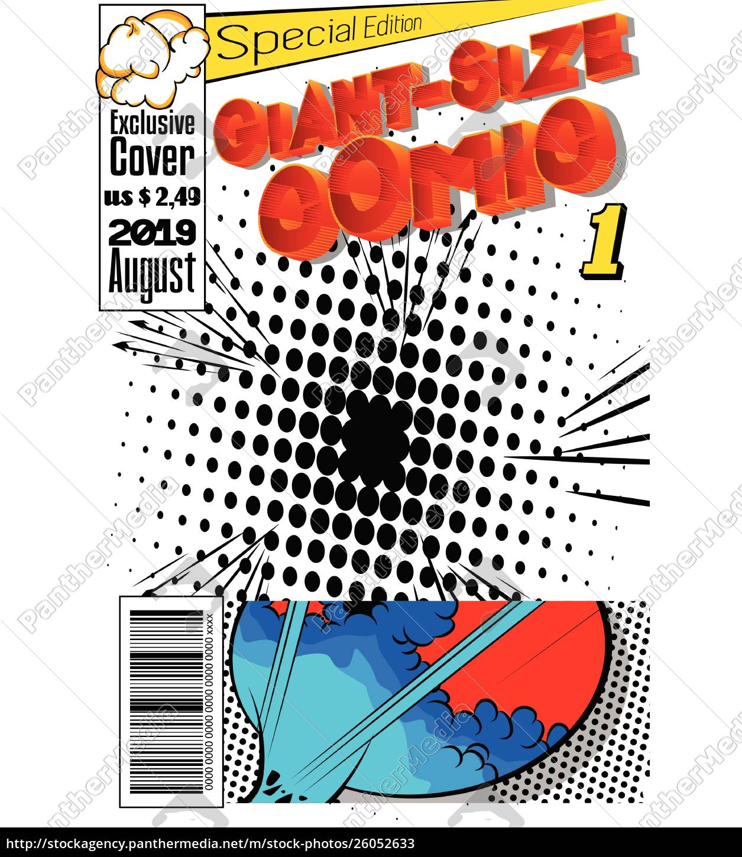 editable, comic, book, cover. - 26052633