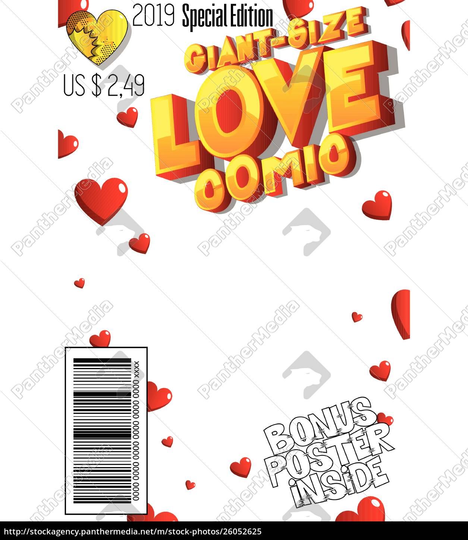 editable, giant, size, love, comic, book - 26052625