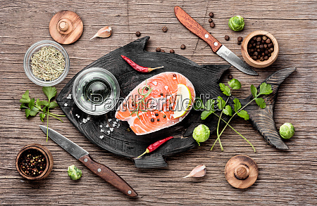 raw, salmon, steak - 26052810