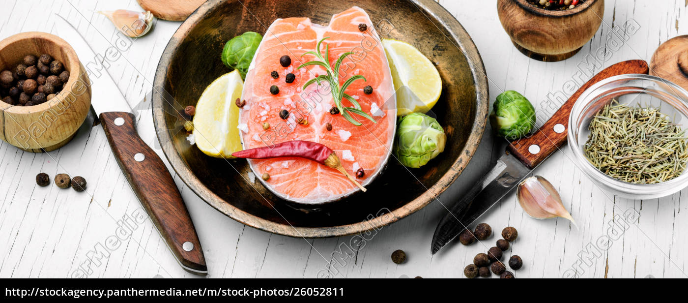 raw, salmon, steak - 26052811