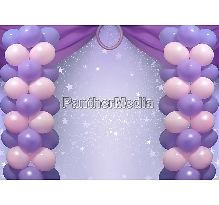 birthday background with party balloons