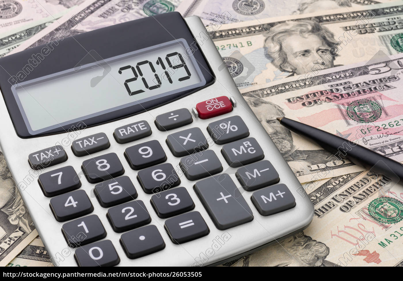 Calculator With Money 2019 Stock