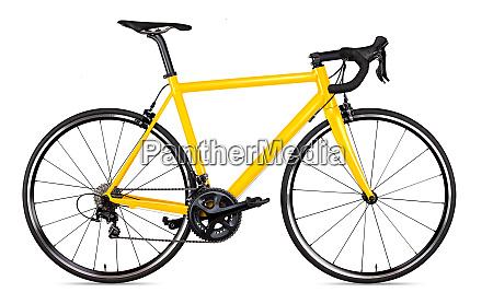 yellow black racing sport road bike