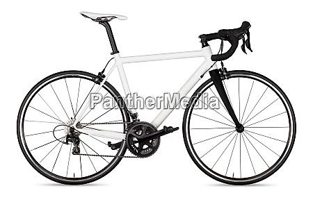 white black racing road bike bicycle