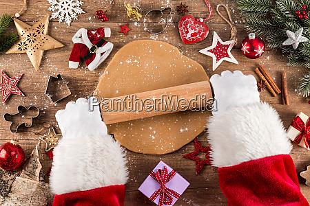 santa claus christmas bakery concept background