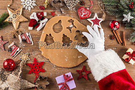 santa claus christmas bakery concept background