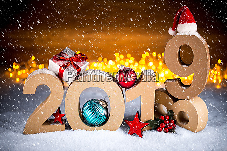 2019, happy, new, year, christmas, greeting - 26053197