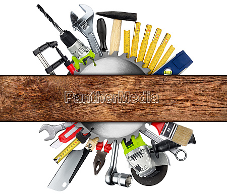 diy, tools, collage, concept, isolated - 26053214