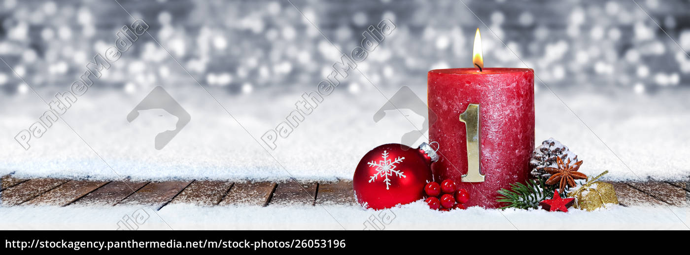 first, sunday, of, advent, red, candle - 26053196