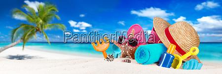 accessory on tropical paradise beach
